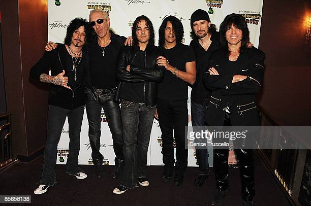 John Corabi Dee Snider Fred Coury Tony Montana Bruce Kulick and Rudy Sarzo appears at a preconcert party at Shimmer Lounge at the Las Vegas Hilton on...