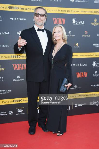 John Corbett and Bo Derek attend Celebrity Fight Night at Arena di Verona on September 8 2018 in Verona Italy