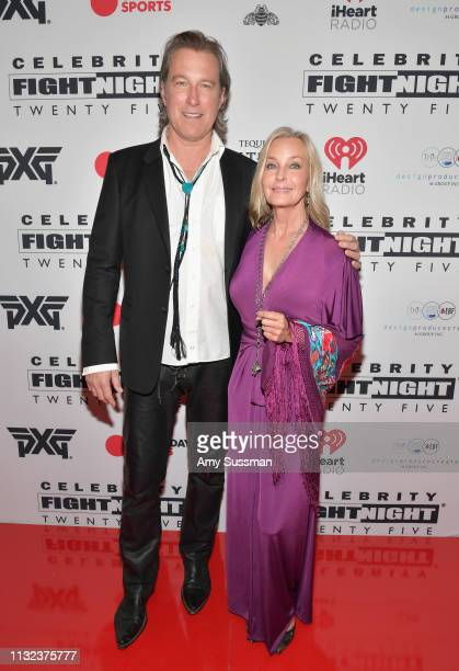 John Corbett and Bo Derek attend Celebrity Fight Night XXV on March 22, 2019 in Phoenix, Arizona.