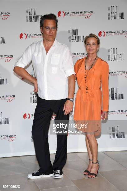 John Corbett and Bo Derek attend the 'The Bold and The Beautiful' 30th Years anniversary during the 57th Monte Carlo TV Festival Day 3 on June 18...