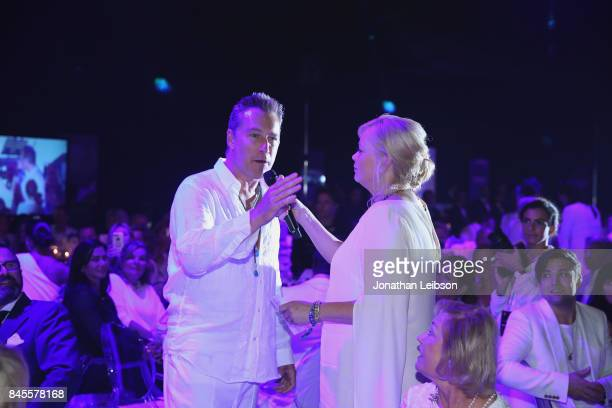John Corbett and Melissa Peterman attend the Closing Night Gala at Cinecittà as part of the 2017 Celebrity Fight Night in Italy Benefiting The Andrea...
