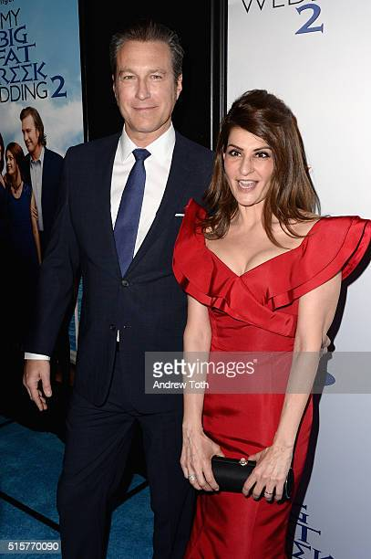 John Corbett and Nia Vardalos attend the My Big Fat Greek Wedding 2 New York premiere at AMC Loews Lincoln Square 13 theater on March 15 2016 in New...