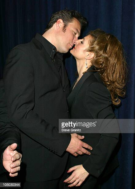 John Corbett and Nia Vardalos during The 29th Annual People's Choice Awards - Backstage and Audience at Pasadena Civic Auditorium in Pasadena,...