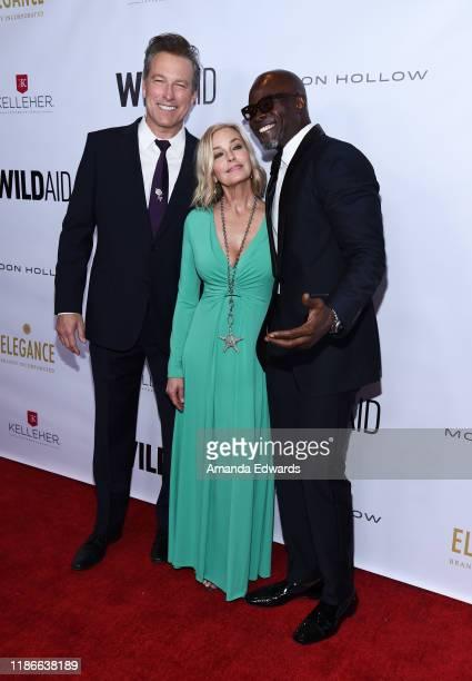 John Corbett Bo Derek and Djimon Hounsou arrive at the 2019 WildAid Gala at the Beverly Wilshire Four Seasons Hotel on November 09 2019 in Beverly...