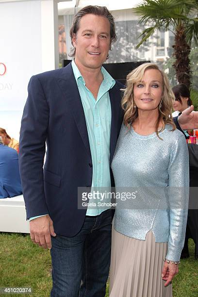 John Corbett, Bo Derek attend the Raffaello Summer Day 2014 at Kronprinzenpalais on June 21, 2014 in Berlin, Germany.