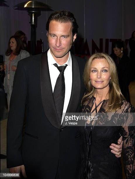 John Corbett & Bo Derek during 2002 Vanity Fair Oscar Party Hosted by Graydon Carter - Arrivals at Morton's Restaurant in Beverly Hills, California,...