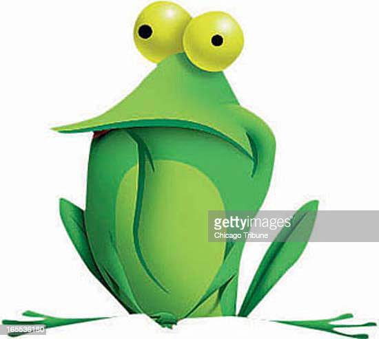John Corbit color illustration of lonely little green frog
