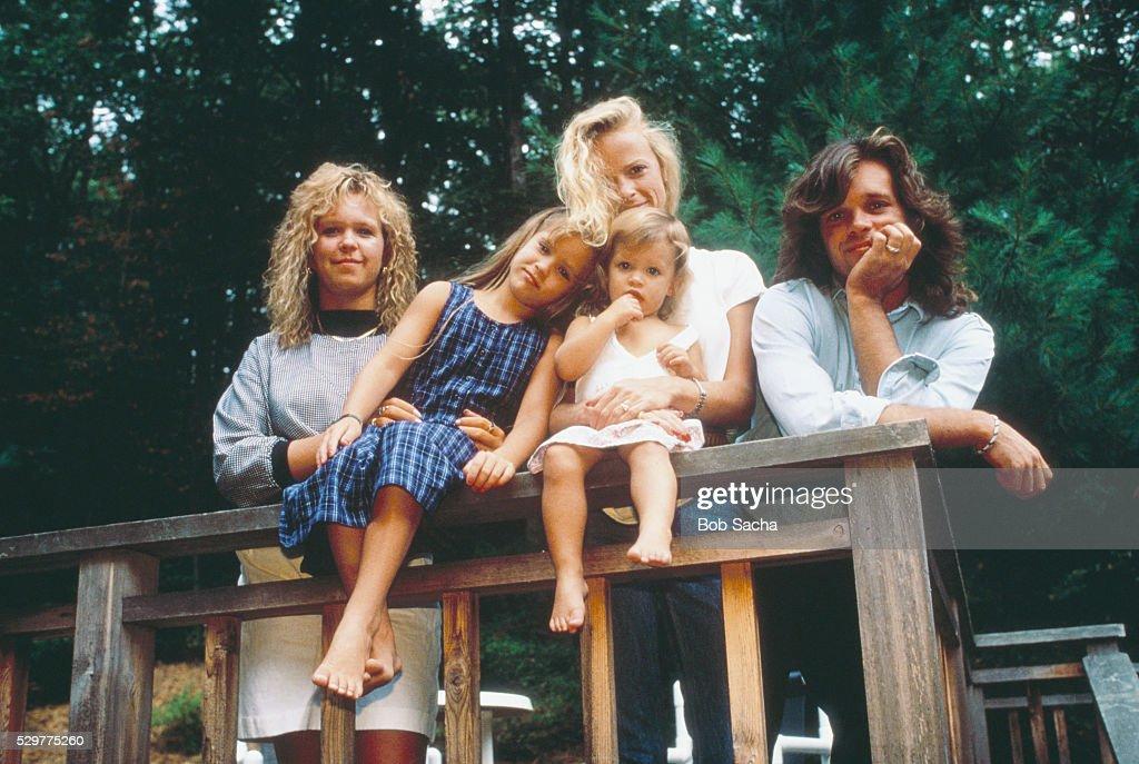 John Cougar Mellencamp with His Family : News Photo