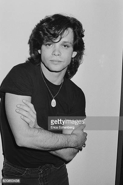 John Cougar Mellencamp with his manager at Riva Records offices London 1980