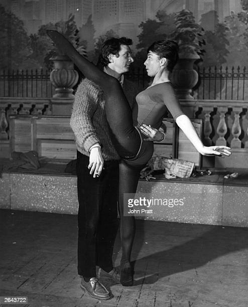 John Cranko the South African ballet choreographer puts Gillian Lynne through her paces in rehearsals for his new show the 'New Cranks' opening at...