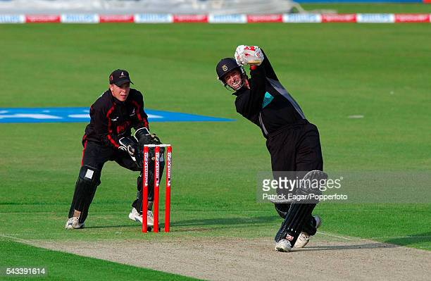 John Crawley of Hampshire batting during the Twenty20 Cup match between Hampshire and Sussex at The Rose Bowl Southampton 13th June 2003 The...