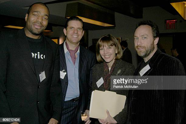 John Cropper George Rudenauer Judith Miller and Jimmy Wales attend The Glasshouse New York An Evening With Wikipedia founder Jimmy Jimbo Wales...