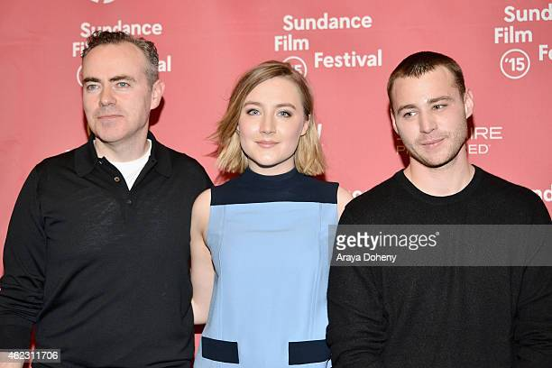 John Crowley Saoirse Ronan and Emory Cohen attend the Brooklyn Premiere during the 2015 Sundance Film Festival on January 26 2015 in Park City Utah