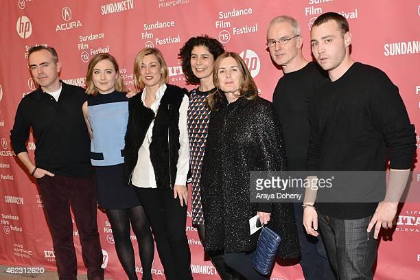 John Crowley Saoirse Ronan Fiona Weir Amanda Posey Finola Dwyer Emory Cohen and Michael Brook attend the Brooklyn Premiere during the 2015 Sundance...