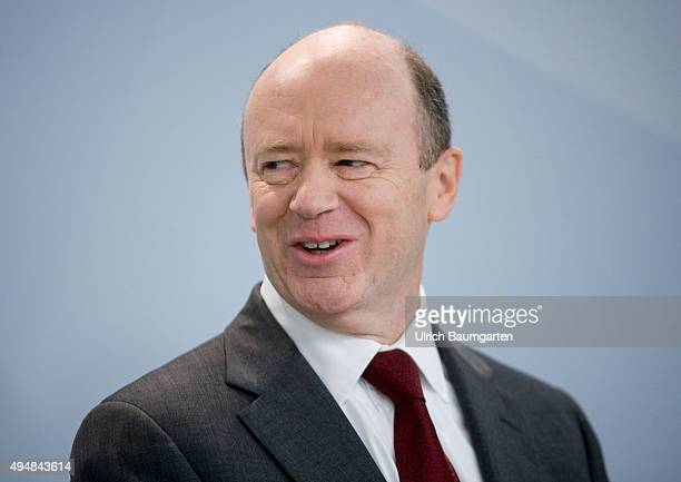 John Cryan CEO of Deutsche Bank AG during the press conference in Frankfurt