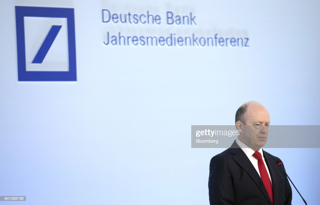 John Cryan, chief executive officer of Deutsche Bank AG, speaks during the bank's earnings news conference in Frankfurt, Germany, on Thursday, Feb. 2, 2017. Deutsche Bank AG is considering candidates to potentially replace Chief Executive Officer Cryan amid heightened tensions between him and Supervisory Board Chairman Paul Achleitner, the Times of London reported without saying where it got the information. The bank approached Richard Gnodde, the head of Goldman Sachs Group Inc.s international operations, but hes thought to have spurned the overture, the newspaper said. Deutsche Bank also considered UniCredit SpA CEO Jean Pierre Mustier and Standard Chartered Plc CEO Bill Winters, according to the report. Our editors select the best archive images for the Deutsche story. Photographer: Alex Kraus/Bloomberg via Getty Images