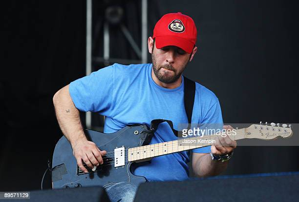John Cummings of Mogwai performs on stage during the 2009 All Points West Music Arts Festival at Liberty State Park on August 2 2009 in Jersey City...