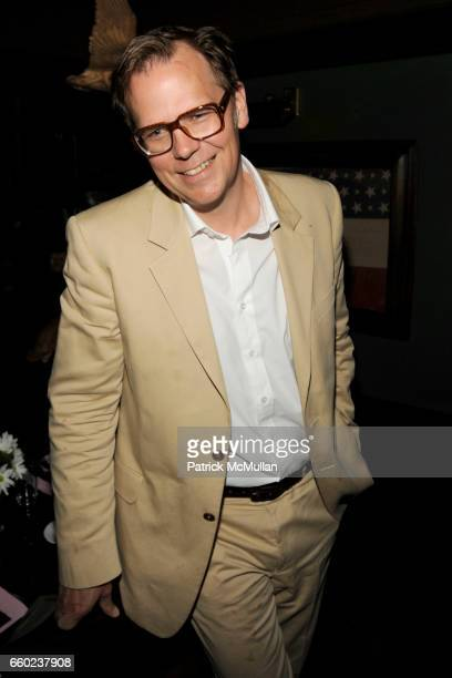 John Currin attends J BRAND / HUSSEIN CHALAYAN Private Dinner at Hotel Griffou on July 29 2009 in New York City