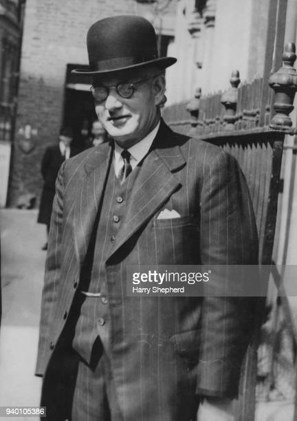 John Curtin the Prime Minister of Australia arrives at 10 Downing Street in London for a meeting of British and Commonwealth Prime Ministers during...