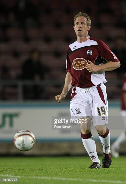 John Curtis of Northampton Town in action during the Coca Cola League Two Match between Northampton Town and Rotherham United at Sixfields Stadium on...