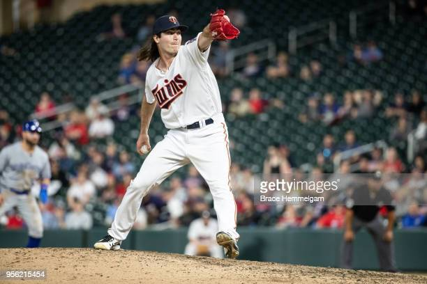 John Curtiss of the Minnesota Twins pitches against the Toronto Blue Jays on April 30 2018 at Target Field in Minneapolis Minnesota The Blue Jays...