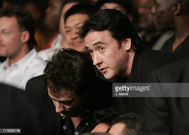 John Cusack during Celebrities Ringside at Winky Wright Vs Shane Mosley November 20 2004 at Mandalay Bay Resort and Casino in Las Vegas Nevada United...