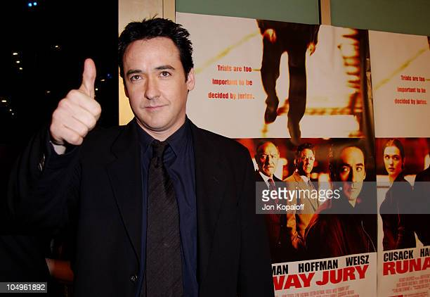 """John Cusack during """"Runaway Jury"""" - Los Angeles Premiere at Cinerama Dome Theatre in Hollywood, CA, United States."""