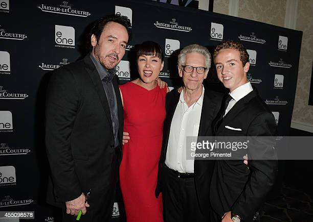 John Cusack Olivia Williams director David Cronenberg and Evan Bird attends the JaegerLeCoultre Celebrates The North American Premiere Of 'Maps To...