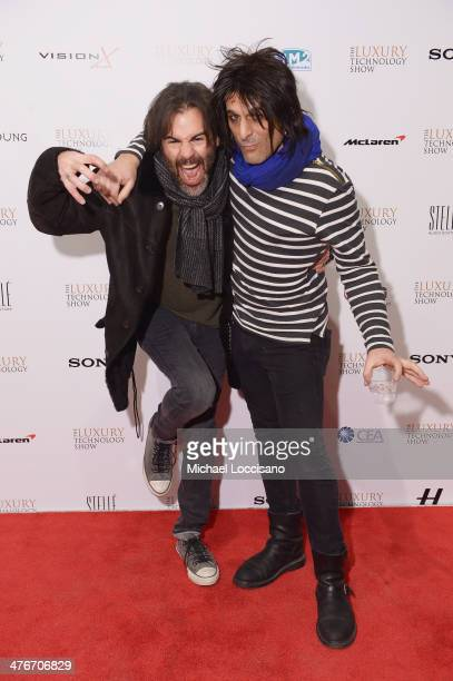 John Cusimano and musician Steve Conte attend the Luxury Technology Show on March 4 2014 in New York City