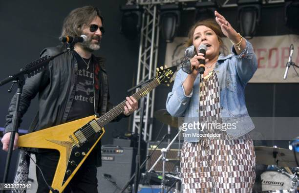 John Cusimano and Rachael Ray attend the Rachael Ray's Feedback party at Stubb's Bar B Que during the South By Southwest conference and festivals on...