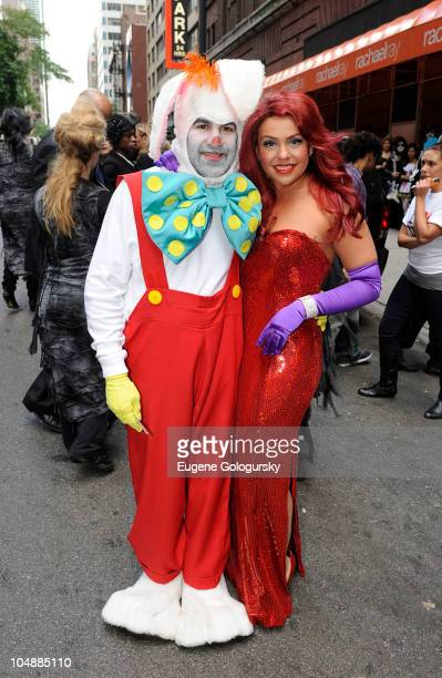 John Cusimano and Rachael Ray attend the taping of the Rachael Ray Show Halloween episode in front of the Rachael Ray Show Studio on October 6 2010...