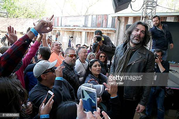 John Cusimano performs with The Cringe during Rachael Ray's Feedback party at Stubbs BBQ during the South by Southwest Music Festival on March 19...