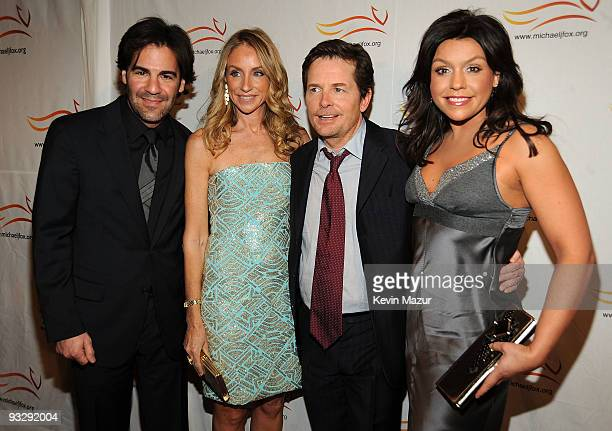 John Cusimano Tracy Pollan Michael J Fox and Rachael Ray attend attends the A Funny Thing Happened on the Way to Cure Parkinson's benefit at The...