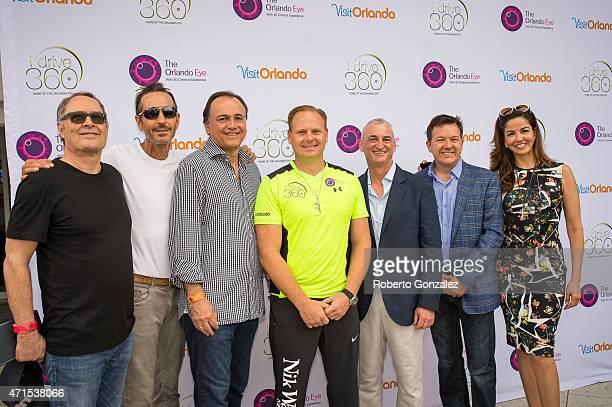 John D Miller Brett Torino Paul Kanavos Nik Wallenda Adam Raboy Chuck Whittall Dayssi Kanavos attend IDrive 360home of the new Orlando Eyecelebrated...