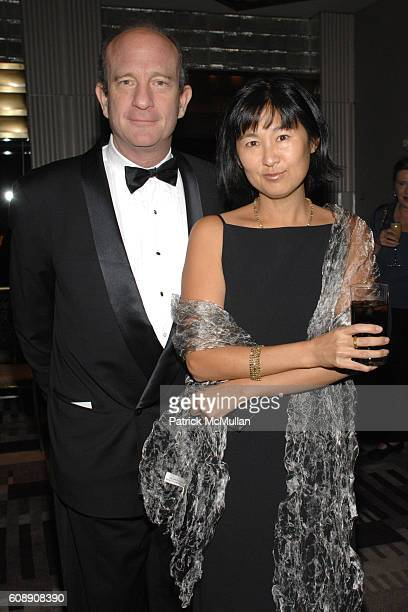 John D Rockefeller and Maya Lin attend The American Associates of the ROYAL ACADEMY TRUST Benjamin West Award Gala Dinner Dance at Rainbow Room on...