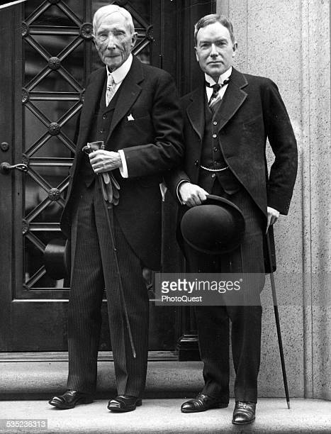 John D Rockefeller Jr is shown with his father in 1925 1925 After his graduation from Brown University in 1897 the son became involved in the...