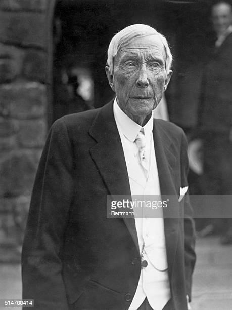 John D Rockefeller Sr on his 83rd birthday Photograph 3/4 length