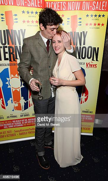 John Dagleish and Lillie Flynn attend the after party following the press night performance of 'Sunny Afternoon' at Cafe De Paris on October 28 2014...