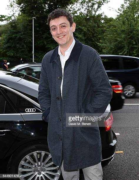 John Dagleish arrives in an Audi at the Olivier Awards Summer Party at Victoria and Albert Museum on July 4 2016 in London England