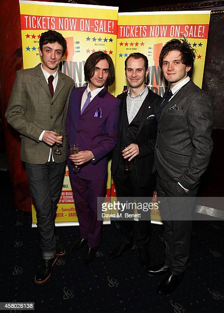 John Dagleish George Maguire Adam Sopp and Ned Derrington attend the after party following the press night performance of 'Sunny Afternoon' at Cafe...