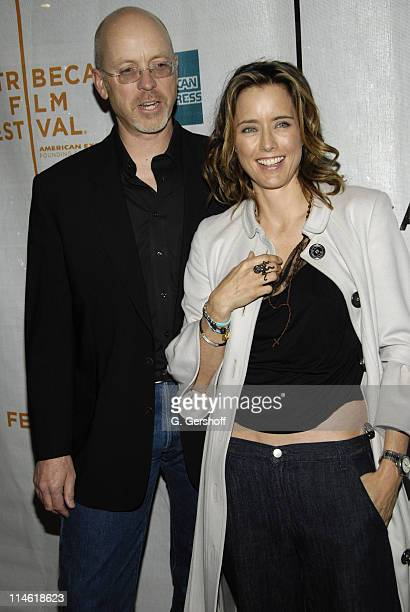 """John Dahl, director and Tea Leoni during 6th Annual Tribeca Film Festival - """"You Kill Me"""" Premiere - Inside Arrivals at Clearview Chelsea West..."""