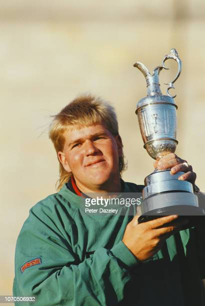 John Daly holding claret jug after winning the 1995 Open Championship on July 23 1995 at the Old Course at St Andrews in St Andrews Scotland John...