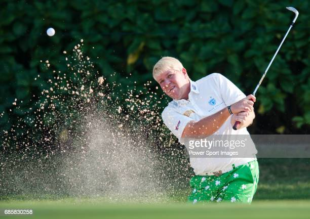 John Daly in action during Round 2 of the UBS Hong Kong Golf Open 2011 at Fanling Golf Course in Hong Kong on 2 December 2011