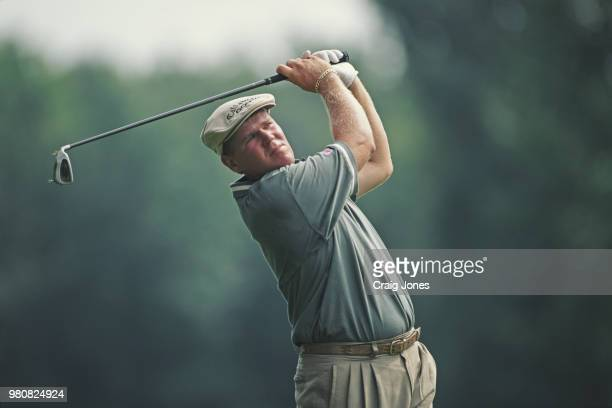 John Daly of the United States during the 79th PGA Championship golf tournament on 15 August 2001 at the Winged Foot Golf Club in Mamaroneck New York...