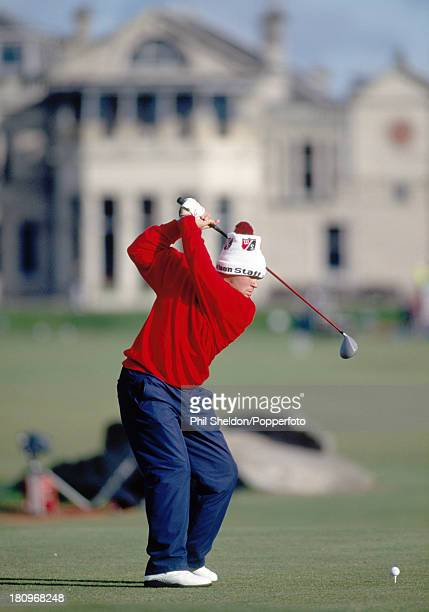 John Daly of the United States in action during the Alfred Dunhill Cup held at the Old Course at St Andrews in Scotland circa October 1993