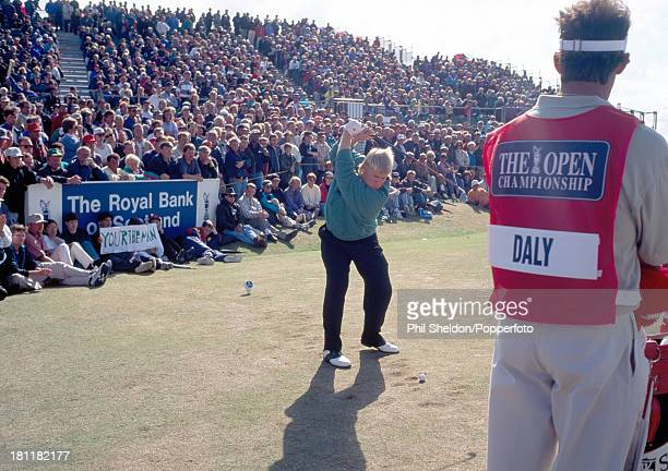 John Daly of the United States in action during the British Open Golf Championship held at the Old Course at St Andrews in Scotland 23rd July 1995...
