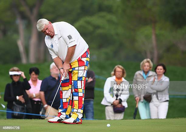 John Daly of the United States in action during the second round of the 2014 Turkish Airlines Open at The Montgomerie Maxx Royal on November 14 2014...