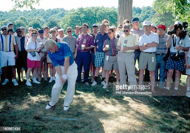 John Daly of the United States in action during the US Open Golf Championship held at the Baltustrol Golf Club in New Jersey circa June 1993