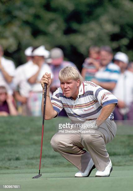 John Daly of the United States in action during the US PGA Championship held at the Inverness Club in Ohio circa August 1993