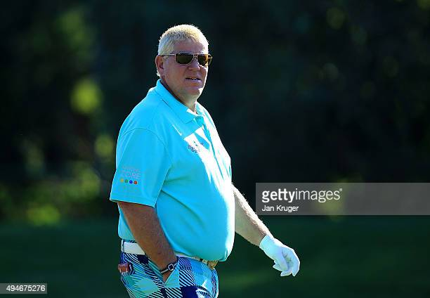 John Daly of the United States looks on ahead of the Turkish Airlines Open at The Montgomerie Maxx Royal Golf Club on October 28 2015 in Antalya...